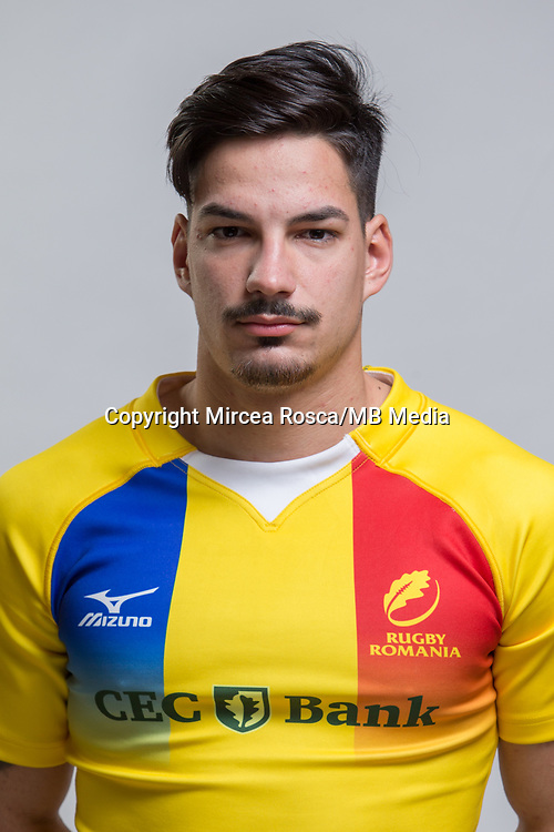 CLUJ-NAPOCA, ROMANIA, FEBRUARY 27: Romania's national rugby player Tudor Boldor pose for a headshot, on February 27, 2018 in Cluj-Napoca, Romania. (Photo by Mircea Rosca/Getty Images)