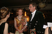 LADY MELISSA EDWARDS AND VISCOUNT  DUPPLIN. The Royal Caledonian charity Ball 2006.Grosvenor House. London. 5 May 2006. . ONE TIME USE ONLY - DO NOT ARCHIVE  © Copyright Photograph by Dafydd Jones 66 Stockwell Park Rd. London SW9 0DA Tel 020 7733 0108 www.dafjones.com