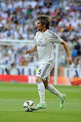 09.05.2015, Estadio Santiago Bernabeu, Madrid, ESP, Primera Division, Real Madrid vs FC Valencia, 36. Runde, im Bild Real Madrid&acute;s Fabio Coentrao // during the Spanish Primera Division 36th round match between Real Madrid CF and Valencia FC at the Estadio Santiago Bernabeu in Madrid, Spain on 2015/05/09. EXPA Pictures &copy; 2015, PhotoCredit: EXPA/ Alterphotos/ Luis Fernandez<br /> <br /> *****ATTENTION - OUT of ESP, SUI*****