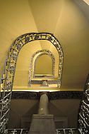 GDR, German Democratic Republic, Leipzig, staircase at the university hospital.....DDR, Deutsche Demokratische Republik, Leipzig, Treppenhaus in der Uniklinik...1990