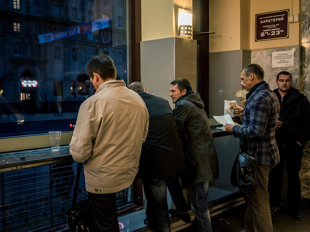 Customers inside the Centralny Universam on Friday, October 9, 2015 in Minsk, Belarus. President Alexander Lukashenko, a longtime iron-fisted ruler of Belarus, was elected to a fifth term with a reported 83.5% of the vote, which international monitors said did not meet democratic standards.