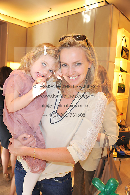 BODIL BLAIN and her daughter at a fun filled tea party hosted by Roger Vivier to view their Jeune Fille collection of shoes in aid of Mothers4Children held at Roger Vivier, Sloane Street, London on 27th March 2012.