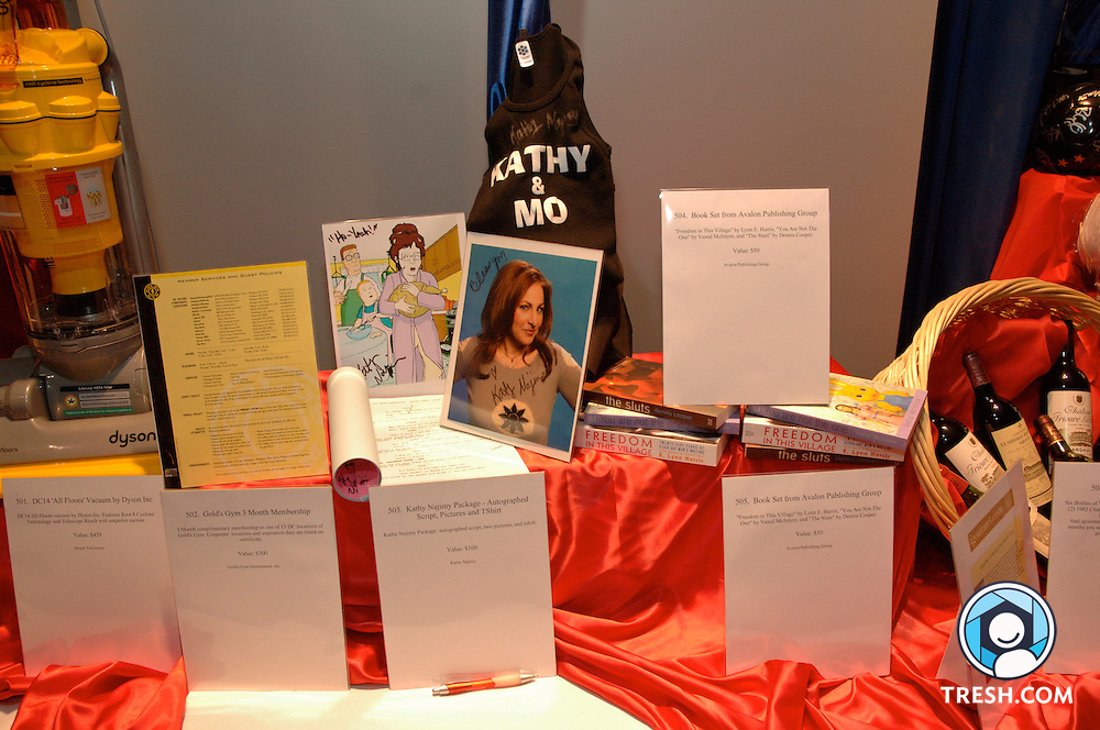 Silent auction items at the Tenth Annual HRC National Dinner