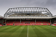 Anfield including the New extension to the Stadium during the Barclays Premier League match between Liverpool and Sunderland at Anfield, Liverpool, England on 6 February 2016. Photo by Simon Davies.