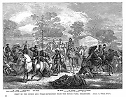 Burke and Wills Expedition setting out from Royal Park, Melbourne, to explore the interior of Australia - 20 August 1860. Both men died of starvation on return journey from Flinders River. Engraving