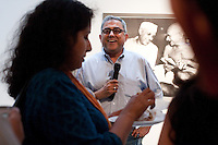 SAJA New York Chapter President Aseem Chhabra at the AICON Gallery's opening reception for the SAJA Convention