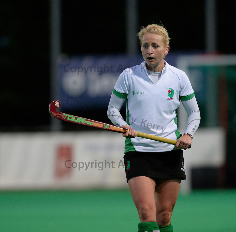 Canterbury's Nikki Lloyd during their Investec Women's Hockey League Premier Division game at Canterbury HC, 22nd February 2014.