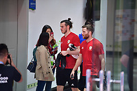 Gareth Bale, left, of Wales national football team is pictured in a training session before the semi-final match against China during the 2018 Gree China Cup International Football Championship in Nanning city, south China's Guangxi Zhuang Autonomous Region, 20 March 2018.