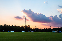 September 22, 2018 - Morrisville, North Carolina, US - Sept. 22, 2018 - Morrisville N.C., USA - Cricket action on the pitch during the ICC World T20 America's ''A'' Qualifier cricket match between USA and Canada. Both teams played to a 140/8 tie with Canada winning the Super Over for the overall win. In addition to USA and Canada, the ICC World T20 America's ''A'' Qualifier also features Belize and Panama in the six-day tournament that ends Sept. 26. (Credit Image: © Timothy L. Hale/ZUMA Wire)