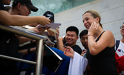 September 22, 2018 - Anastasia Pavlyuchenkova of Russia signs autographs at the 2018 Dongfeng Motor Wuhan Open WTA Premier 5 tennis tournament (Credit Image: © AFP7 via ZUMA Wire)