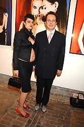 DETMAR BLOW and MARA CASTILHO at the launch of 'Glenmorangie 5 Senses' an exhibition of photographs by Mike Figgis held at Proud Camden, Stables Market, London NW1 on 13th May 2008.<br />