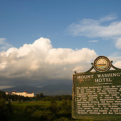 The Mount Washington Hotel in Twin Mountain, New Hampshire.