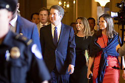 July 11, 2018 - Washington, Distrcict of Columbia, U.S. - Judge BRETT KAVANOUGH meets with senators on Capitol Hill ahead of the confirmation hearings for his nomination as Associate Justice of the Supreme Court.  (Credit Image: © Douglas Christian via ZUMA Wire)