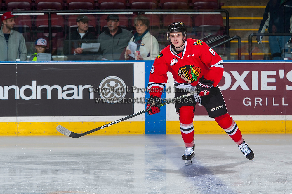 KELOWNA, CANADA - JANUARY 21: Cody Glass #8 of the Portland Winterhawks warms up against the Kelowna Rockets on January 21, 2017 at Prospera Place in Kelowna, British Columbia, Canada.  (Photo by Marissa Baecker/Getty Images)  *** Local Caption *** Cody Glass;