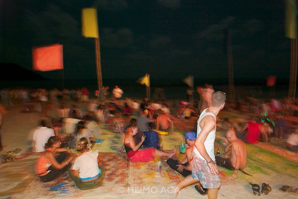 The notorious Full Moon Party at Hat Rin beach on the small Thai island of Ko Pha-Ngan is Asia's biggest regular rave event.