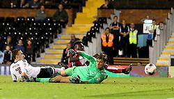 Tammy Abraham of Bristol City scores the winning goal against Fulham - Mandatory by-line: Robbie Stephenson/JMP - 21/09/2016 - FOOTBALL - Craven Cottage - Fulham, England - Fulham v Bristol City - EFL Cup
