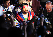 LAS VEGAS, NV - JUNE 09:  Manny Pacquiao enters the ring before his bout against Timothy Bradley at MGM Grand Garden Arena on June 9, 2012 in Las Vegas, Nevada.  (Photo by Jeff Bottari/Getty Images) *** Local Caption *** Manny Pacquiao