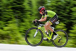 Maj Flajs competes at Sloveian Road Cycling Championship Time Trial 2020 Gorje - Pokljuka, on June 28, 2020 in Pokljuka, Slovenia. Photo by Matic Klansek Velej / Sportida