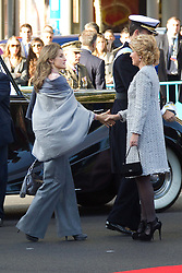 12.10.2010, Madrid, ESP, Spain National Day in Madrid, im Bild Princess Letizia, Prince Felipe, Princess Elena, Princess Cristina and Inaki Urdangarin, King Juan Carlos and Queen Sofia attend the military parade at Spain`s National Day in Madrid. Pictured Princess Letizia and Esperanza Aguirre. EXPA Pictures © 2010, PhotoCredit: EXPA/ Alterphotos/ Cesar Cebolla +++++ ATTENTION - OUT OF SPAIN / ESP +++++