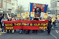 March in support of GCHQ workers scacked for belonging to a Trade Union. Sheffield.