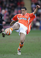 Blackpool - Saturday March 7th, 2009: Nick Blackman of Blackpool in action against Norwich City during the Coca Cola Championship match at Bloomfield Road, Blackpool. (Pic by Michael Sedgwick/Focus Images)