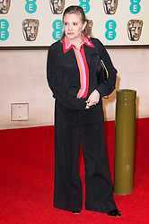 © Licensed to London News Pictures. 14/02/2016. London, UK. CARRIE  FISHER arrives carpet for the EE British Academy Film Awards 2016 after party held at Grosvenor House . London, UK. Photo credit: Ray Tang/LNPPhoto credit: Ray Tang/LNP