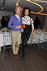 Left to right, TAMARA BECKWITH and JEANETTE CALLIVA at a lunch hosted by Harrods' and Erno Laszlo to celebrate the launch of the Erno Laszlo Hollywood Collection held in The Penthouse, Harrods, Knightsbridge, London on 25th April 2012.