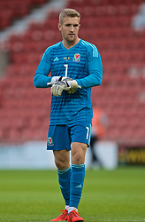 WREXHAM, WALES - Friday, September 6, 2019: Wales' goalkeeper George Ratcliffe during the UEFA Under-21 Championship Italy 2019 Qualifying Group 9 match between Wales and Belgium at the Racecourse Ground. (Pic by Laura Malkin/Propaganda)
