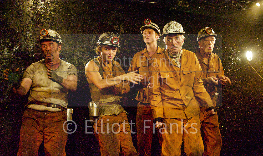 Land of our Fathers by Chris Urch<br /> at Trafalgar Studios 2, London, Great Britain <br /> press photocall<br /> 8th September 2014 <br /> directed by Paul Robinson<br /> Designed by Signe Beckmann<br /> Lighting by Hartley T A Kemp<br /> Music composed by Simon Slater<br /> <br /> <br /> directed by Paul Robinson <br /> <br /> Clive Merrison as Bomber<br /> <br /> Patrick Brennan as Chopper<br /> <br /> Robert East as Hovis<br /> <br /> Kyle Rees as Curly <br /> <br /> Taylor Jay Davies as Chewy <br /> <br /> Joshua Price as Mostyn <br /> <br /> <br /> Photograph by Elliott Franks <br /> Image licensed to Elliott Franks Photography Services