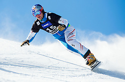 Benjamin Karl of Austria competes during Qualification Run of Men's Parallel Giant Slalom at FIS Snowboard World Cup Rogla 2015, on January 31, 2015 in Course Jasa, Rogla, Slovenia. Photo by Vid Ponikvar / Sportida