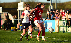 Charlie Wellings of Bristol City is marked by Becky Jane of Liverpool Women  - Mandatory by-line: Ryan Hiscott/JMP - 19/01/2020 - FOOTBALL - Stoke Gifford Stadium - Bristol, England - Bristol City Women v Liverpool Women - Barclays FA Women's Super League
