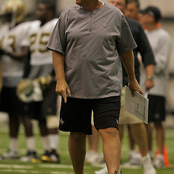 10 August 2009: Saints defensive coordinator Gregg Williams on the field during New Orleans Saints training camp at the team's indoor practice facility in Metairie, Louisiana.