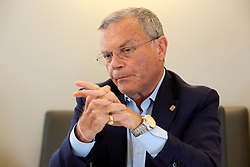 UK ENGLAND LONDON 15JUL15 - Sir Martin Sorrell, CEO of WPP plc reacts during an interview at the company's HQ in Mayfair, London.<br /> <br /> WPP is the world leader in marketing communications services, with extensive holdings in the fields of advertising, public relations, branding, digital, relationship marketing and specialist communications.<br /> <br /> jre/Photo by Jiri Rezac<br /> <br /> © Jiri Rezac 2015