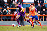 Harry Pell on the ball during the Vanarama National League match between Braintree Town and Cheltenham Town at the Amlin Stadium, Braintree, United Kingdom on 19 March 2016. Photo by Carl Hewlett