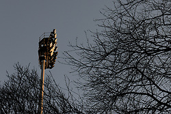 A general view of a floodlight at Loftus Road from the street - Photo mandatory by-line: Dougie Allward/JMP - Mobile: 07966 386802 - 04/03/2015 - SPORT - football - London - Loftus Stadium - Queens Park Rangers v Arsenal - Barclays Premier League