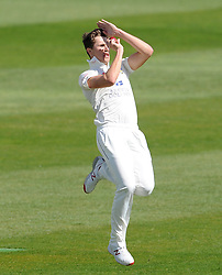 Durham's Paul Coughlin - Photo mandatory by-line: Harry Trump/JMP - Mobile: 07966 386802 - 12/04/15 - SPORT - CRICKET - LVCC County Championship - Day 1 - Somerset v Durham - The County Ground, Taunton, England.