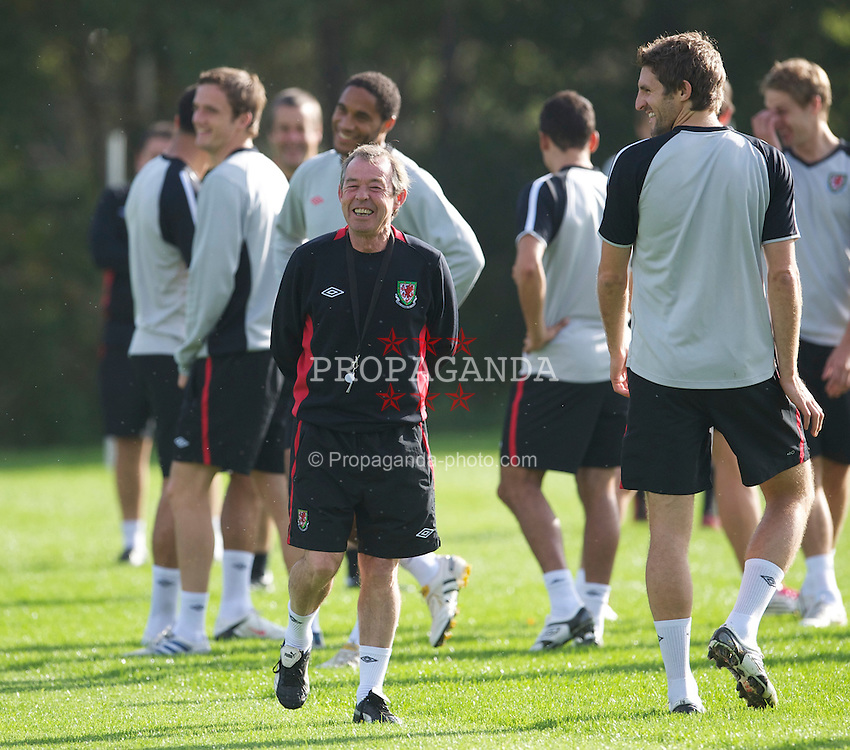 CARDIFF, WALES - Thursday, October 7, 2010: Wales' new manager Brian Flynn during a training session at the Vale of Glamorgan ahead of the UEFA Euro 2012 Qualifying Group G match against Bulgaria. (Pic by David Rawcliffe/Propaganda)