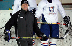 Coach assistant Matjaz Kopitar at  hockey training of Slovenian national team, on December 12, 2007 in Bled - Ice Arena, Slovenia. (Photo by Vid Ponikvar / Sportal Images)