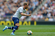 Tottenham Hotspur midfielder Christian Eriksen (23) during the Pre-Season Friendly match between Tottenham Hotspur and Inter Milan at Tottenham Hotspur Stadium, London, United Kingdom on 4 August 2019.