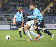 Philip Roberts and Kyle Benedictus - Falkirk v Dundee, SPFL Championship at <br /> Falkirk Stadium<br />  - &copy; David Young - www.davidyoungphoto.co.uk - email: davidyoungphoto@gmail.com