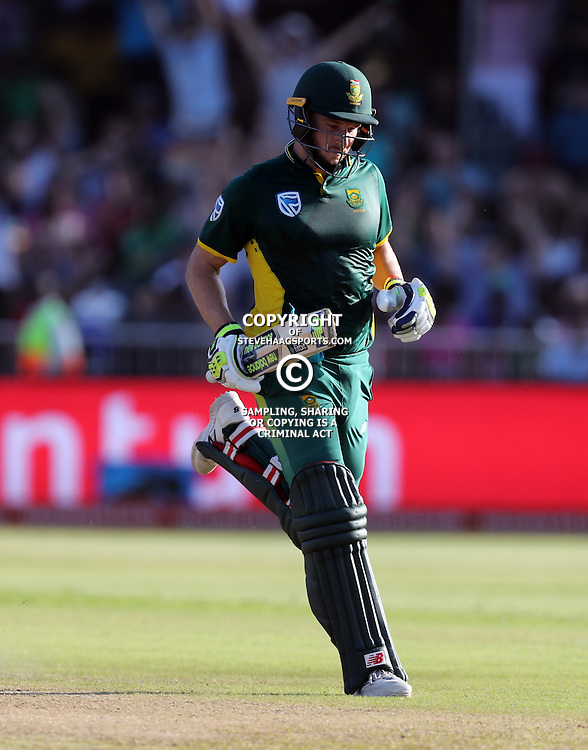 David Miller of the (South African Proteas) during the 2nd ODI Momentum One-Day International (ODI) series South African and Sri Lanka at Kingsmead, Durban, South Africa.1st February 2017 - (Photo by Steve Haag)