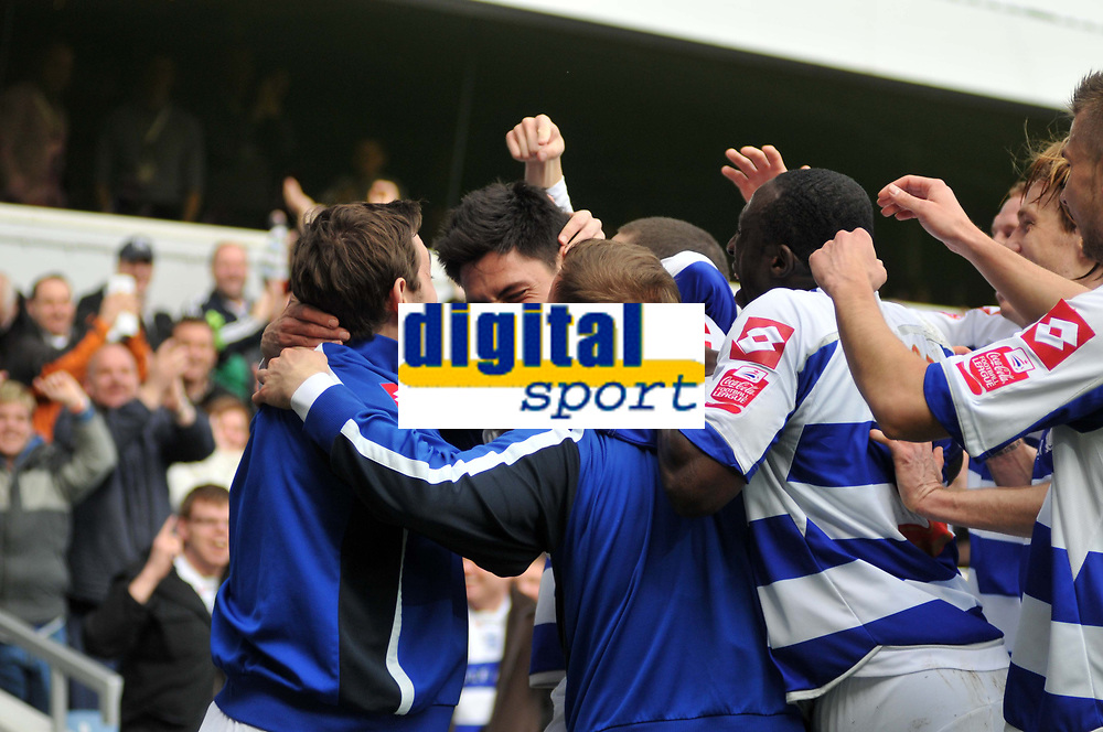 Photo: Tony Oudot/Richard Lane Photography. QPR v Sheffield Wednesday. Coca-Cola Football League One. 03/04/2010. <br /> Alejandro Faurlin scores his first goal for QPR and puts his side 1-0 up