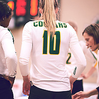 3rd year middle blocker, Brooklyn Reynolds (10) of the Regina Cougars during the Women's Volleyball home game on Fri Jan 18 at Centre for Kinesiology, Health & Sport. Credit: Arthur Ward/Arthur Images