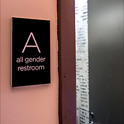 All Gender Restroom sign<br />