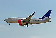 LN-TUK SAS Boeing 737 Next Gen Photographed at Malpensa airport, Milan, Italy