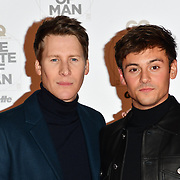 Dustin Lance Black and Tom Daley Arrivers at GQ 30th Anniversary celebration at Sushisamba, The Market, Convent Garden on 29 October 2018.