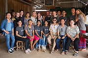 ICS volunteers and country staff in the village of in Banteay Char, near Battambang, Cambodia