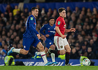 Football - 2019 / 2020 EFL Carabao (League) Cup - Fourth Round: Chelsea vs. Manchester United<br /> <br /> Daniel James (Manchester United) races through at Stamford Bridge <br /> <br /> COLORSPORT/DANIEL BEARHAM