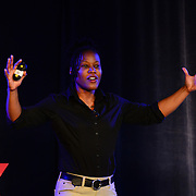 Majora Carter speaks at TEDx PiscataquaRiver at 3S Artspace in Portsmouth, NH on May 3, 2013