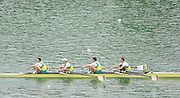 Munich, GERMANY,  AUS LM4-. bow, Antony EDWARDS, Samuel BELTZ, Blair TUNEVITSCH and Todd SKIPWORTH. 2010 FISA World Cup. Munich Olympic Rowing Course, Sunday  20/06/2010   [Mandatory Credit Peter Spurrier/ Intersport Images]